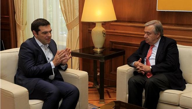 Tsipras, Guterres discuss UN mediation for return of captured Greek officers